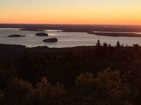 Sunrise from Cadillac Mountain summit, Acadia National Park