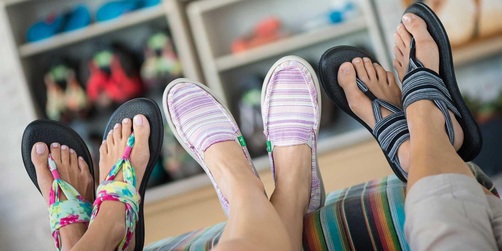 Go shoe shopping at Sanuk in Disney Springs. Just one of many activities adults can enjoy at Disney World.