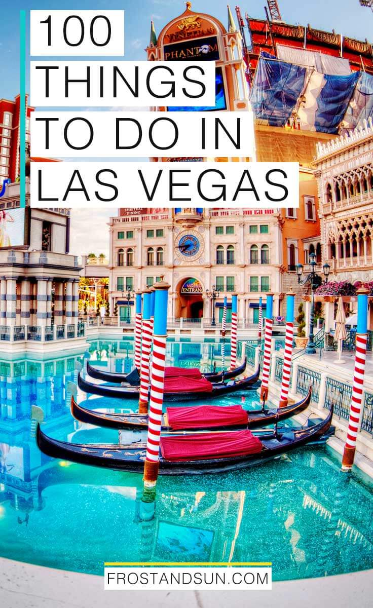Check out more than 100 things to do in Las Vegas, from fine art and top notch shows to relaxing spas and shopping, and so much more. #vegas #lasvegas