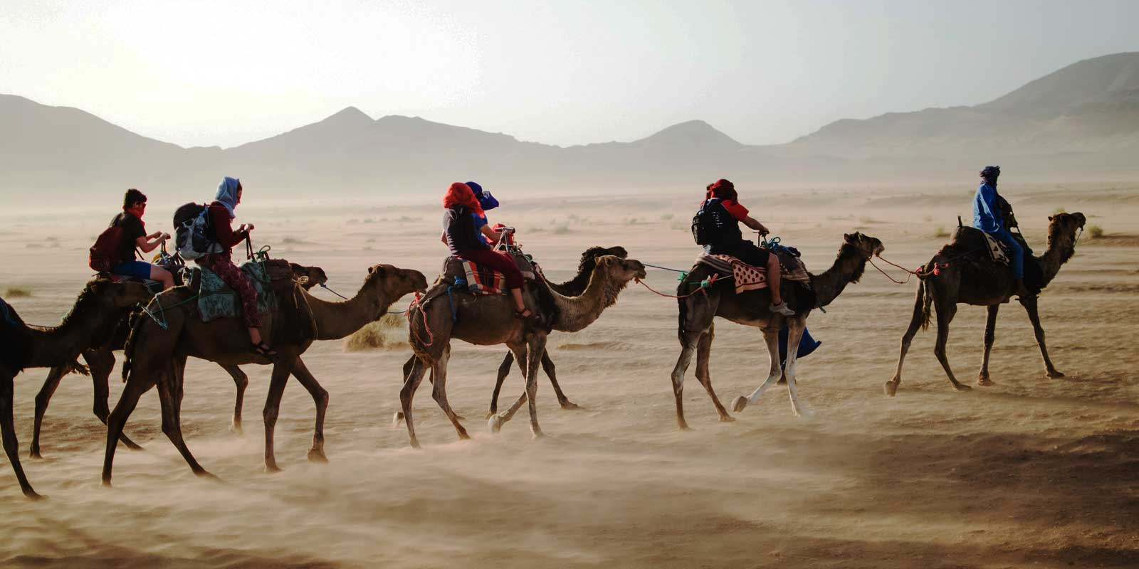 Ride camels, explore souks, sip mint tea, and much more in beautiful Morocco.