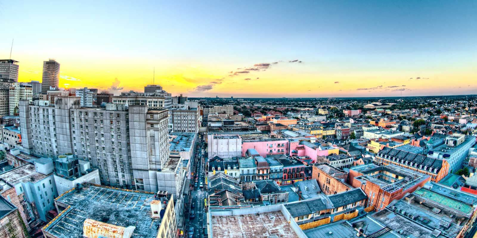 Rooftop views of New Orleans from Hotel Monteleone