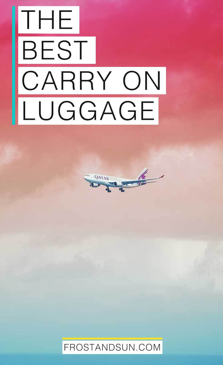 I found over 70 cute and functional options for carry on luggage, from backpacks and totes to spinners, graphic prints, designer brands, and more. #carryon #luggage