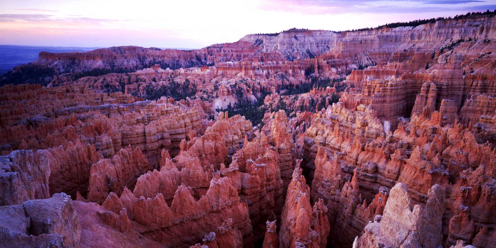 Overlooking the red rock hoodoos from Sunset Point at Bryce Canyon National Park