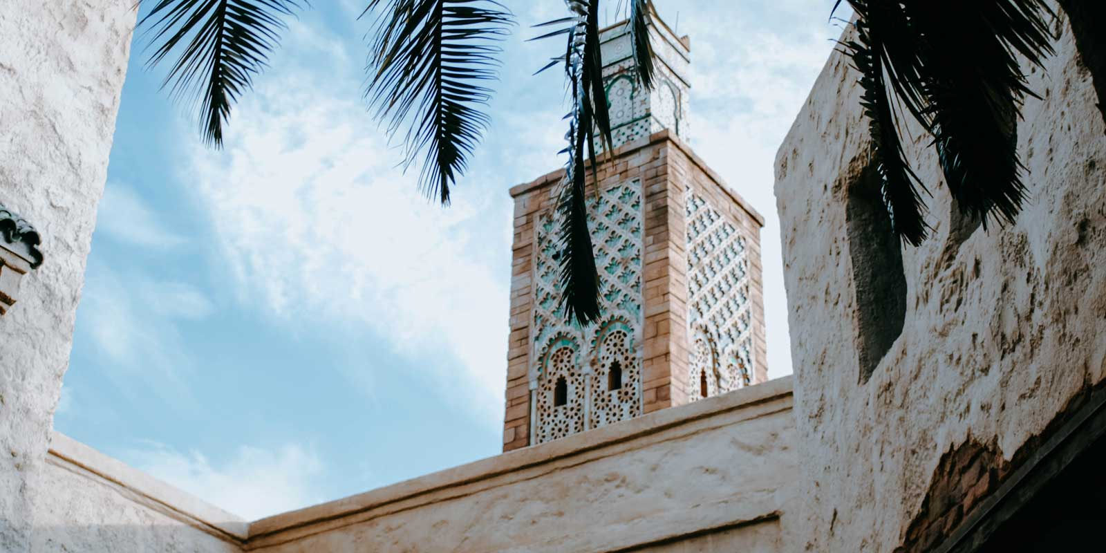 Closeup of a Moroccan building at Epcot's Morocco pavilion in Epcot's World Showcase.