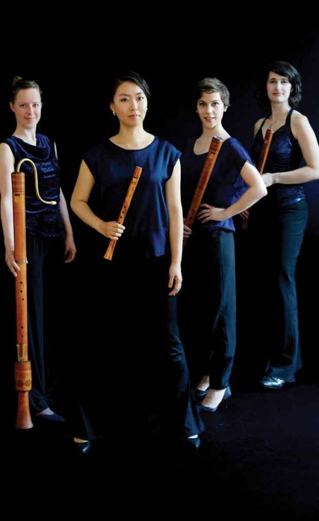 Formal photograph of the early music quartet, Boreas Quartett Bremen, who has performed at the Boston Early Music Festival.