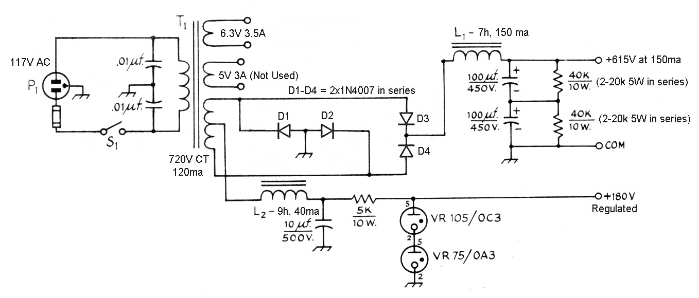 hight resolution of the aa8v 6146b amplifier power supply schematic diagrams and power supply schematic use ti chip click