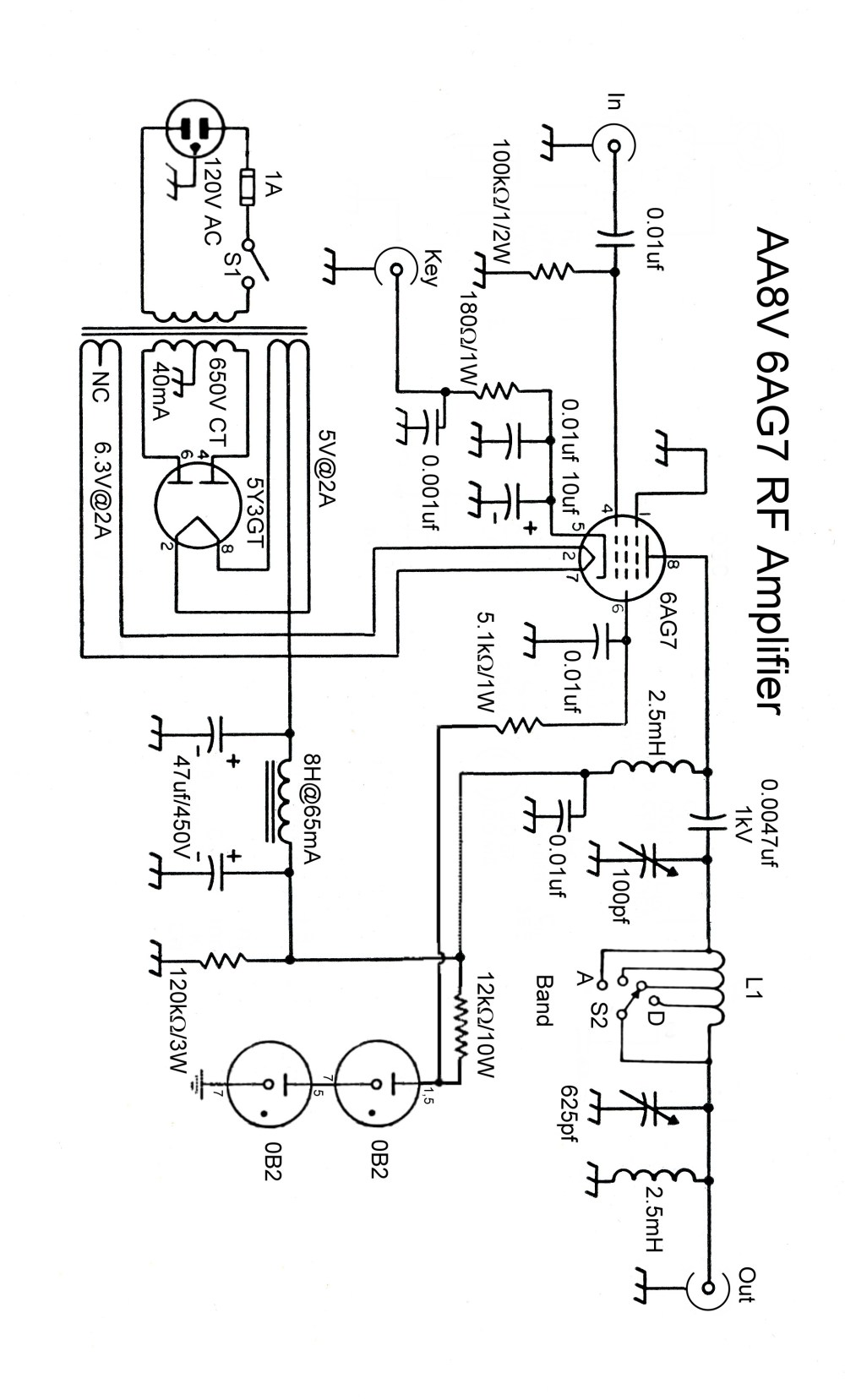 medium resolution of the aa8v 6ag7 amplifier schematic diagrams and circuit descriptions click on image for higher resolution schematic