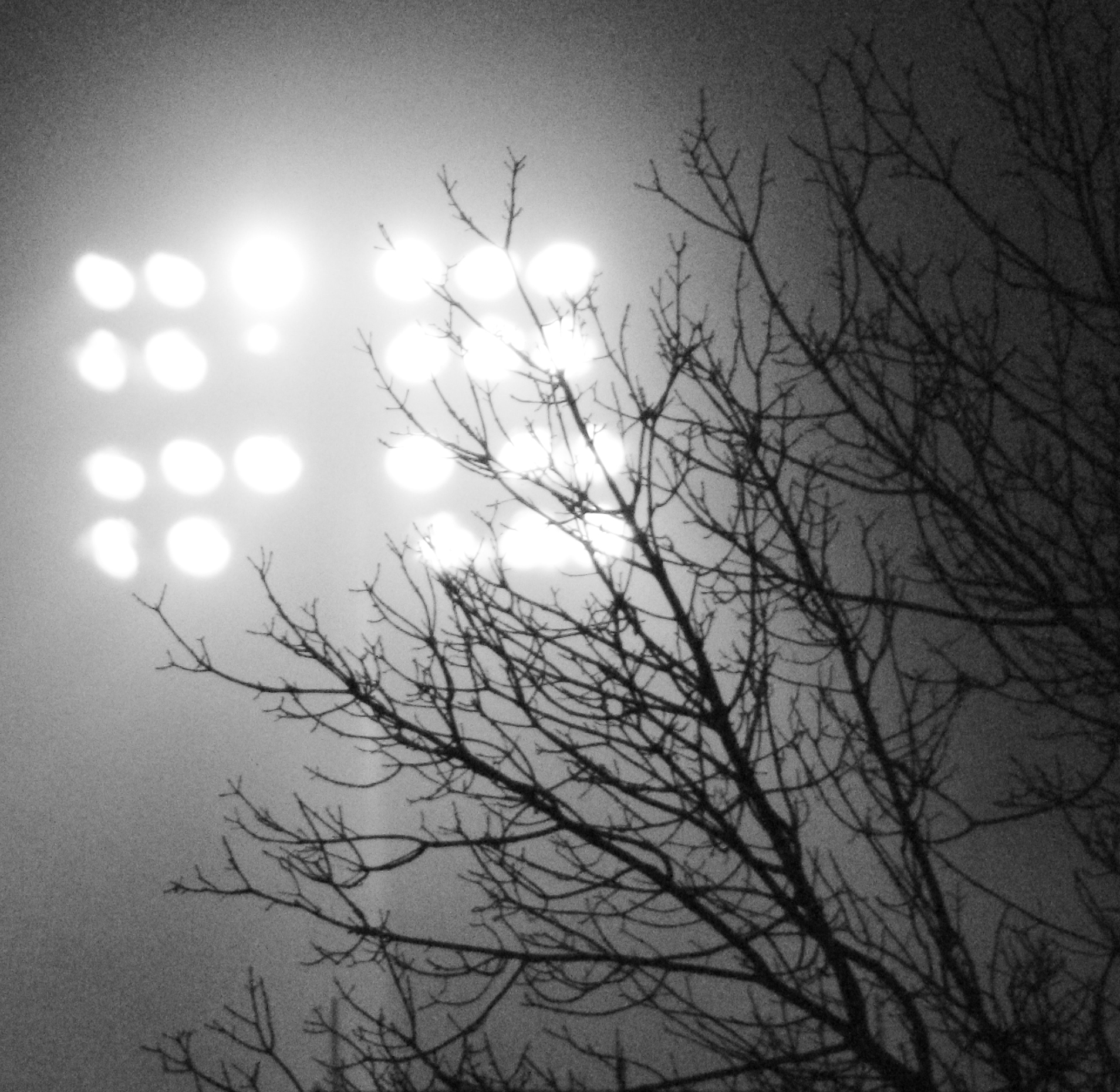 Football Stadium Night Lights: Frostburg Swings
