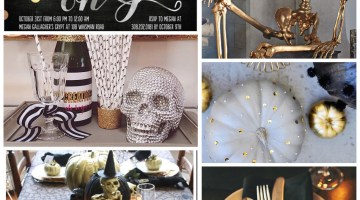 Halloween Party Themes - Gold Glam Halloween Party Inspiration