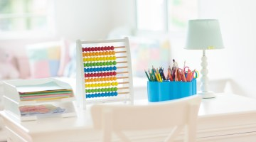 Home School Classroom Ideas - homeschooling and virtual learning stations
