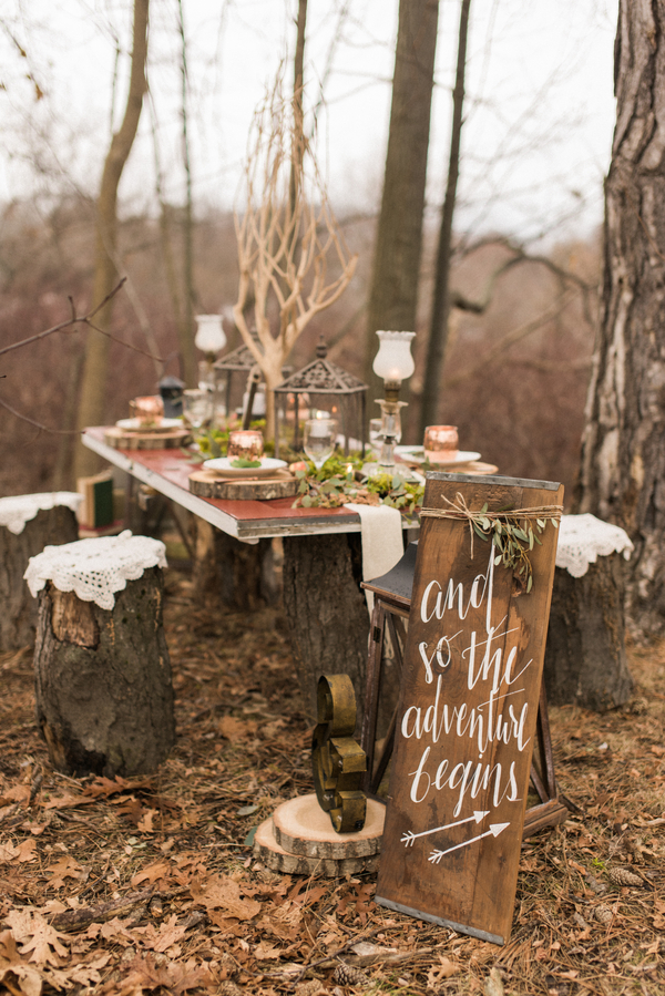 Rustic woodland outdoor fairytale wedding 1
