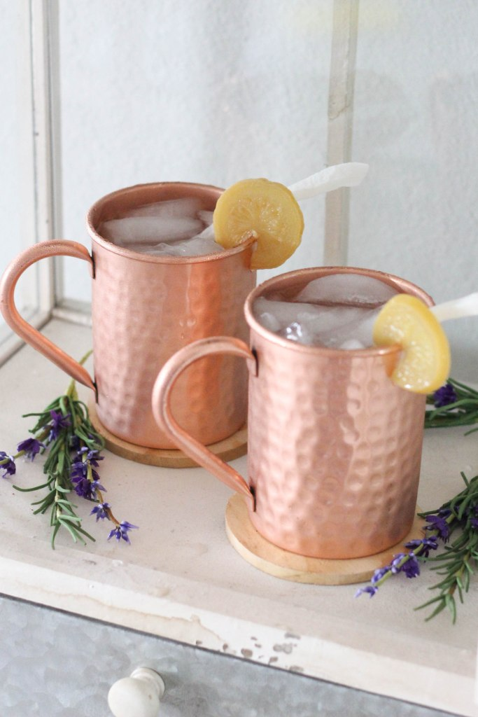 moscow mule, moscow mule recipe, coconut moscow mule, lemon moscow mule, lemon coconut moscow mule, russian cocktail, spring cocktail recipe, coconut rum, vodka, rum cocktail, vodka cocktail, cocktail recipe, mixology