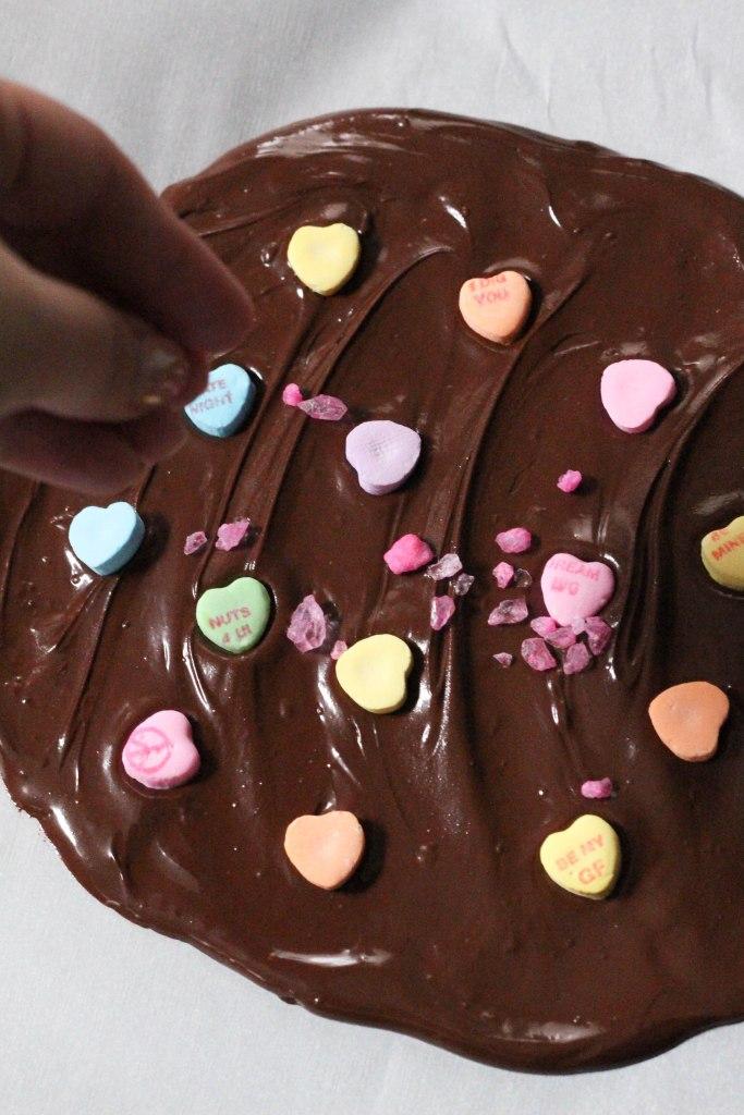 chocolate, chocolate recipe, chocolate dessert, candy, candy recipe, valentines day candy, valentines day, bark, chocolate bark