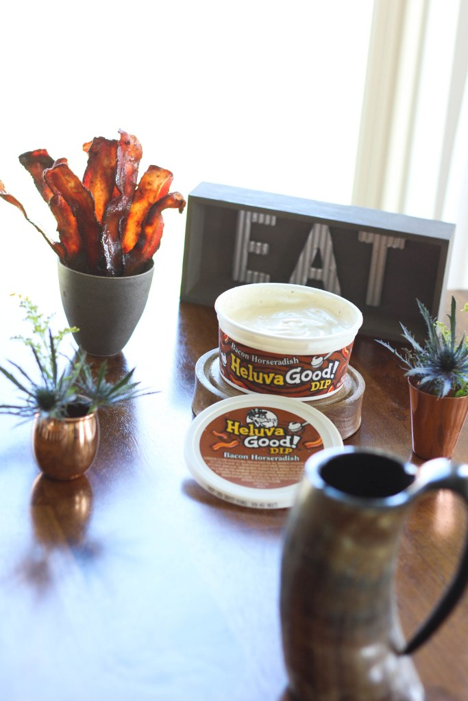 heluva good, dip, candied bacon, bbq