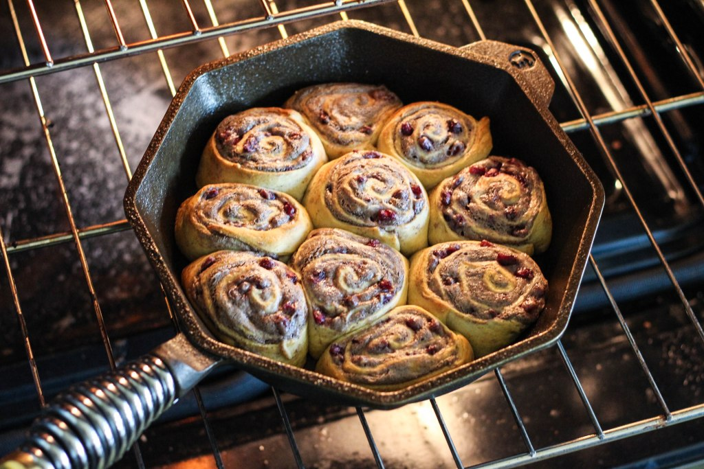 Holiday Homestead Buns, Finex Cast Iron Skillet, Southern Kitchen