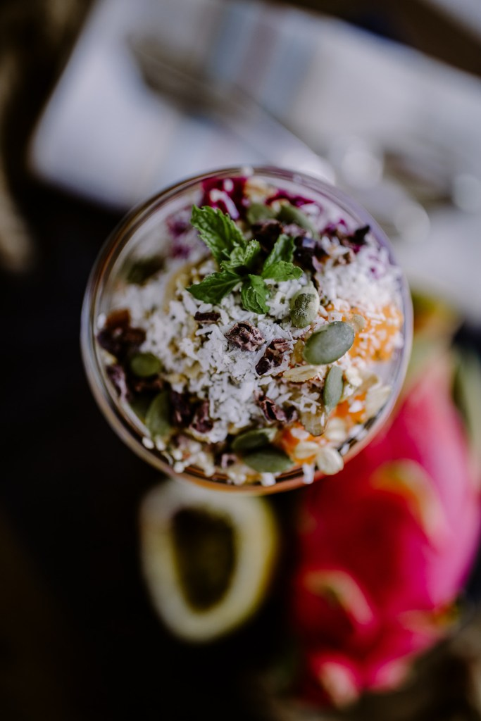 Tropical Fruit & Coconut Chia Seed Pudding, Ketino Photography