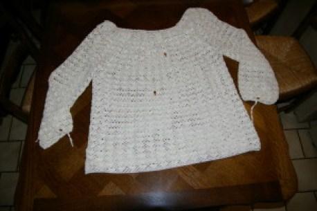 blouse en dentelle au crochet