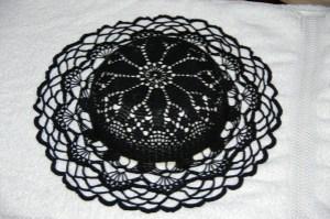 chapeau dentelles noires