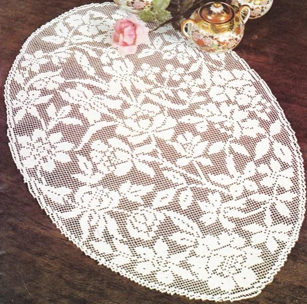 gd napperon ovale Bouquet