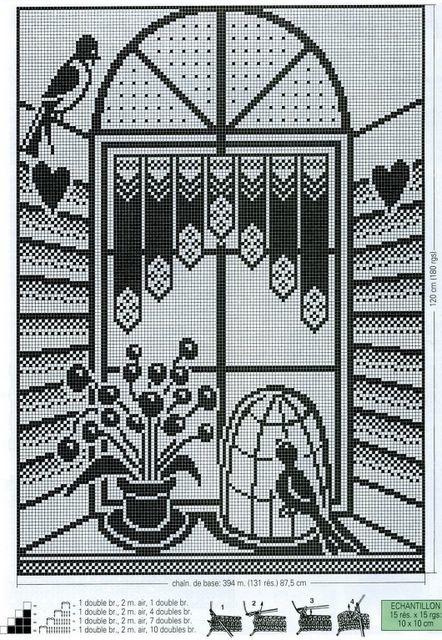 CROCHET : rideau Oiseaux en Cage TUTORIEL GRATUIT