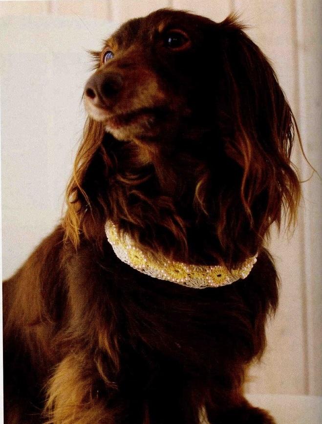 Il est garni de perles rondes.