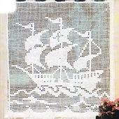 RIDEAU AU CROCHET : Trois-mâts Santiano AVEC TUTO - Le blog de crochet et tricot d'art de Suzelle