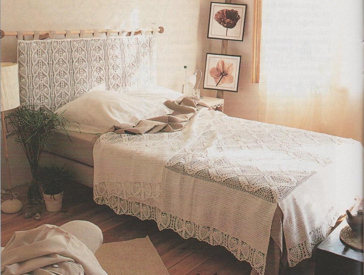 CROCHET : jeté de lit et têtière TUTORIEL GRATUIT
