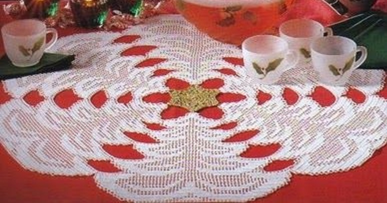 CROCHET : centre de table SAPINS DE NOEL tutoriel gratuit