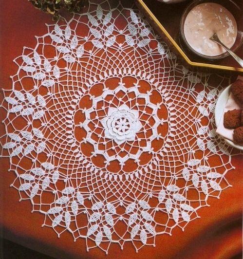 CROCHET : napperon rond avec rose centrale TUTORIEL GRATUIT