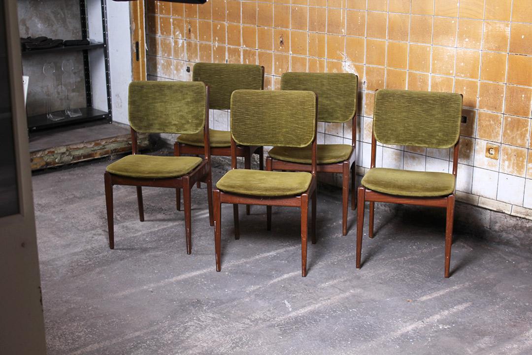 5 vintage Deens design eetkamerstoelen  Froufrous