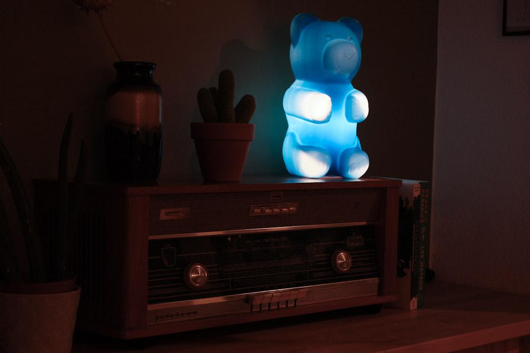 Blauwe gummibeer beren lamp  Froufrous