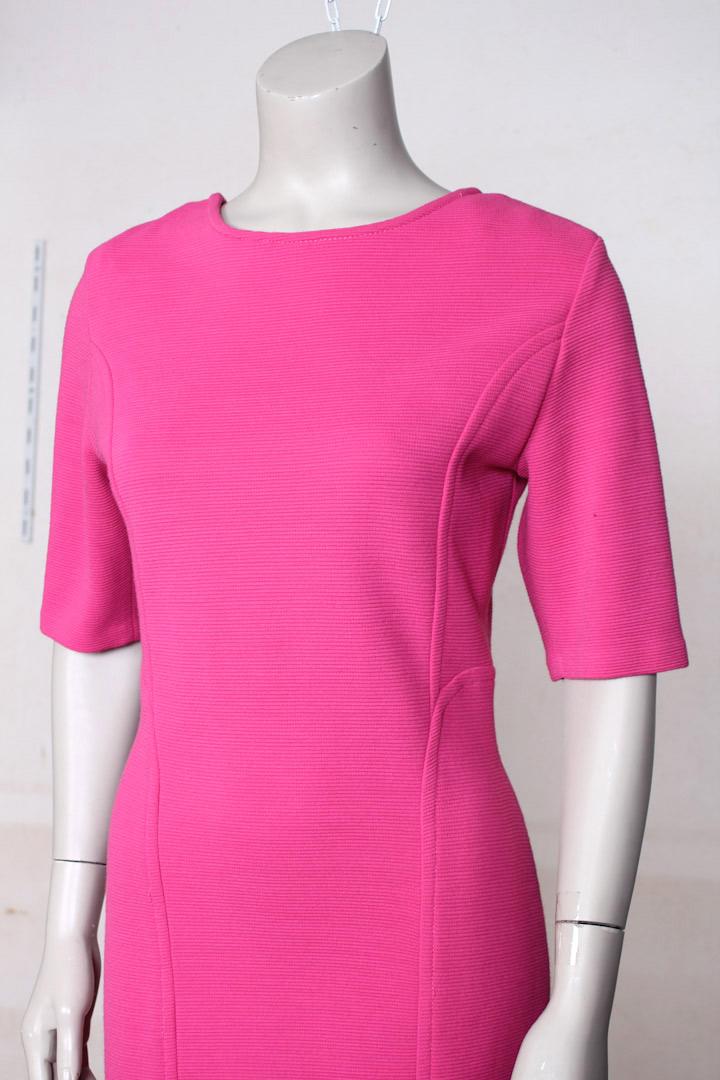 Roze jurk met gevlochten rug  Froufrous
