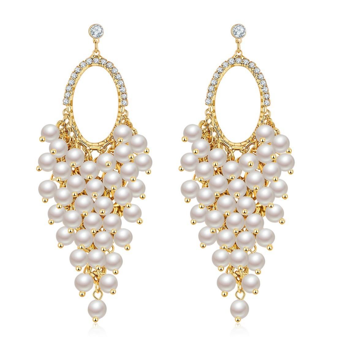 New Designer Earrings Pea Designer New Fashion Diamond