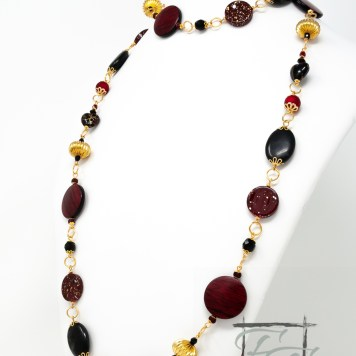 Hohenzollern: Red, black, and gold rope necklace