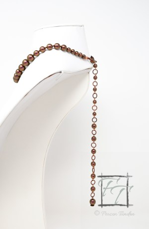 Copper czech glass collar with stunning backdrop