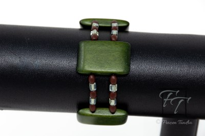 charcuterie green cheesewood bracelet