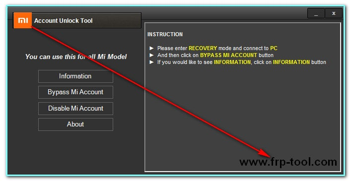 Unlocker Frp MI Account Remover Tool 100% Tested Free Download