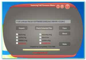 Samsung Full Firmware Maker