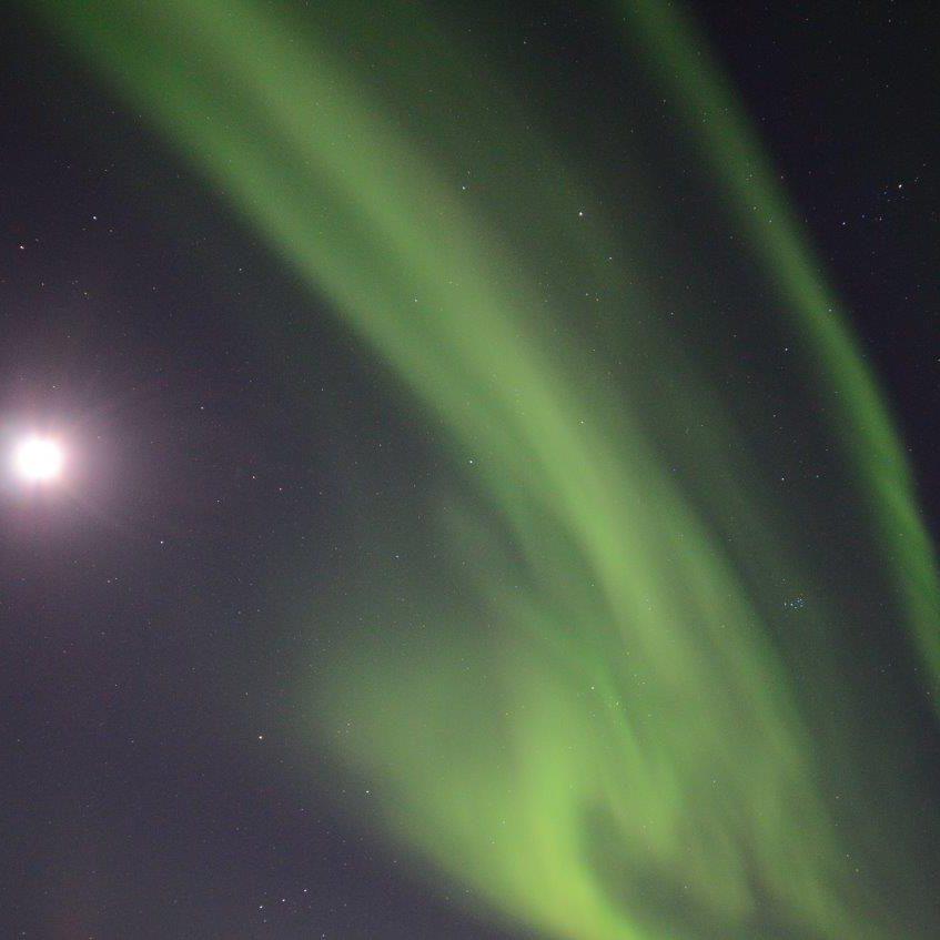 Noorderlichtreis Noorderlicht met volle maan Foto: Fru Amundsen ©