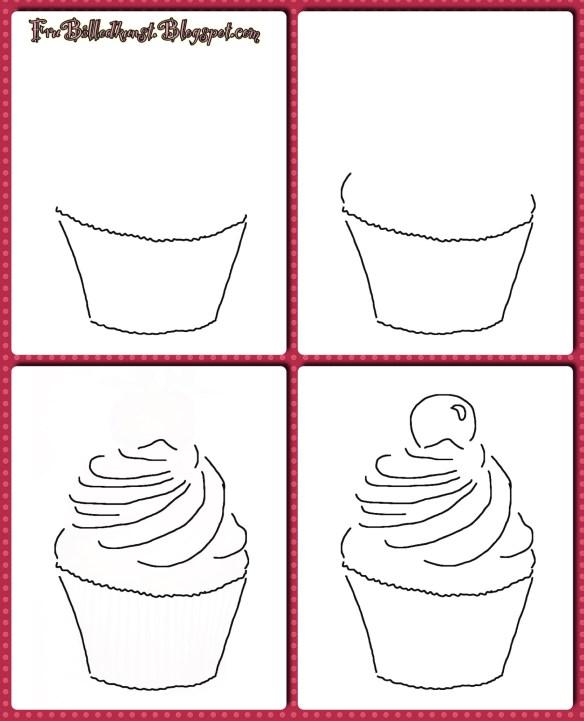 FruBilledkunst - cupcake - tutorial