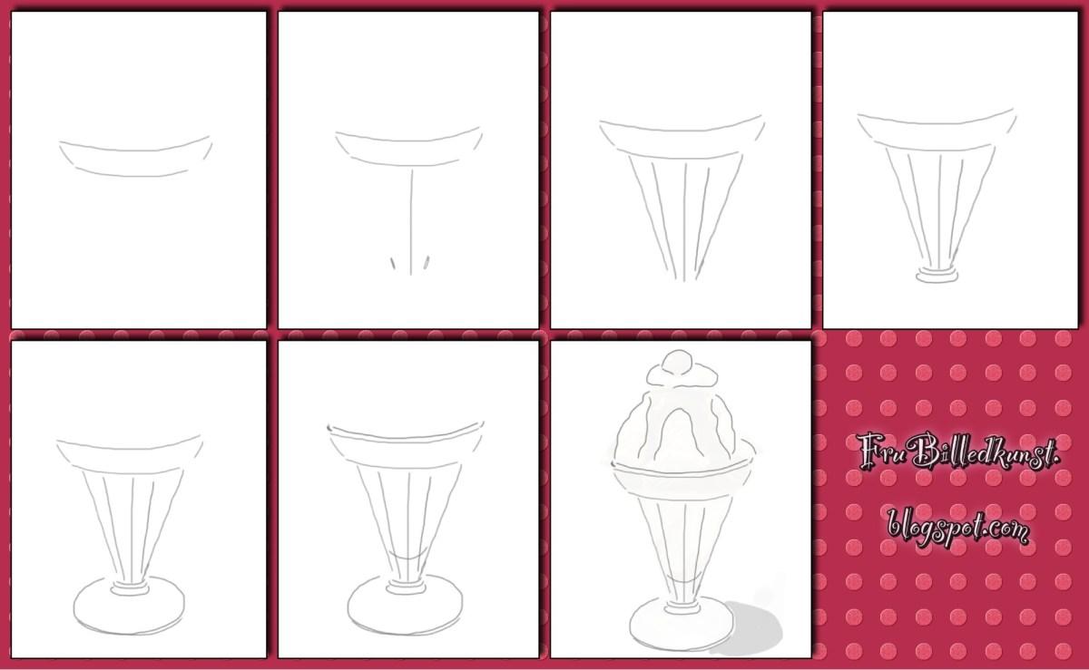 FruBilledkunst - dessertglas - tutorial