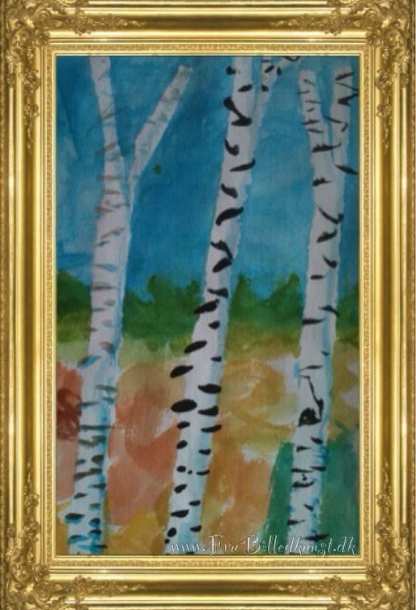 Fru Billedkunst - birketræer