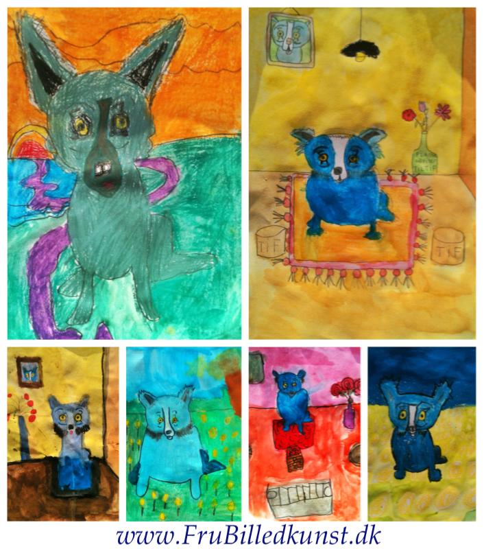 Frubilledkunst blue Dog 1klasse