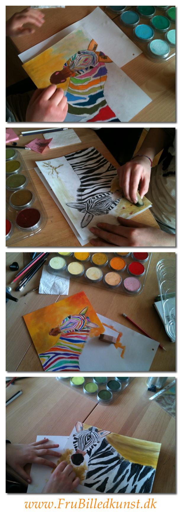 Frubilledkunst zebra
