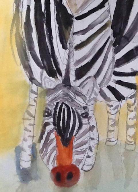 FruBilledkunst - zebra tegnet af Priskilla 12 år