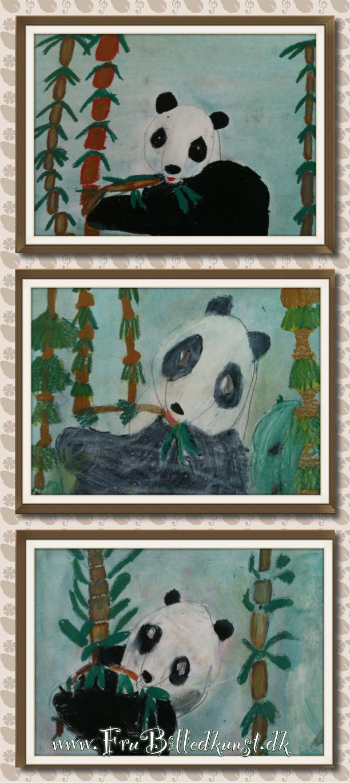 Frubilledkunst -panda -1kl