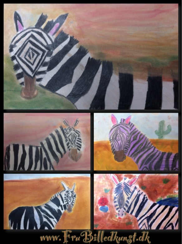 www.FruBilledkunst.dk - zebra 3rd grade