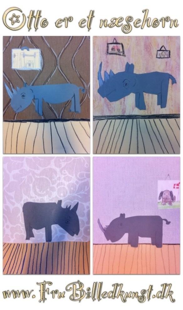 www.FruBilledkunst.dk - Otto er et næsehorn