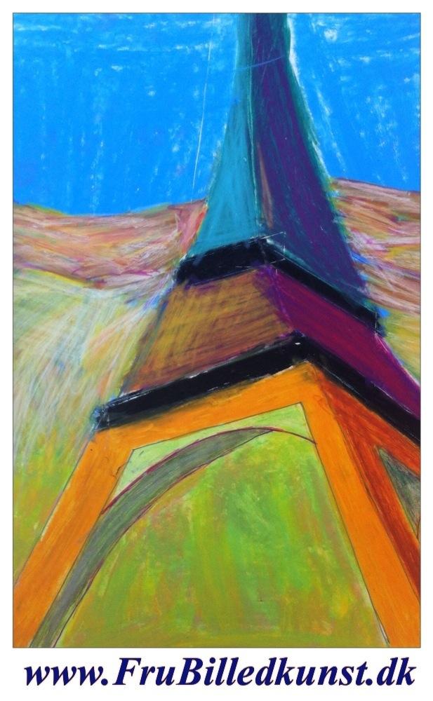 www.FruBilledkunst.dk - Eiffeltårnet 4.klasse