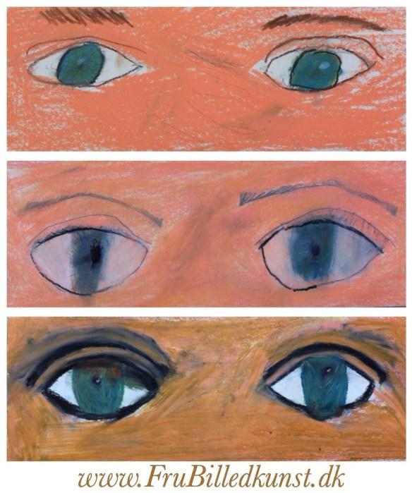 www.FruBilledkunst.dk - portræt-forløb - øjne